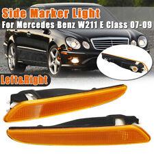 RHS+LHS Front Bumper Side Marker Light Lamp For Mercedes Benz W211 E-Class E320