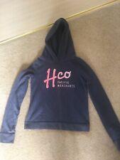 Girls Ladies Marl Blue Hollister Sweatshirt Hoodies Size XS