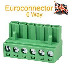 6 PIN EUROCONNETTORE EURO-Blocco connettore audio professionale 6 VIE UK STOCK
