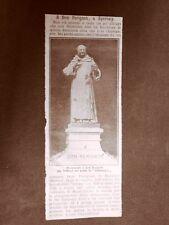 Epernay nel 1910 Inaugurazione monumento Don Perignon Champagne Chavallioud