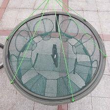 8 Import Entrances 70cm Fishing Trap Cast Net Crab Eel Portable Foldable Minnow