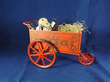 Midwest Importers of Cannon Falls Wooden Red Sleigh with Hay and Man