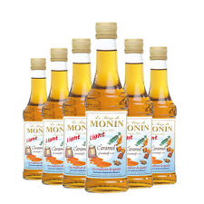 Monin Sirup Caramel Light, 0,25L, 6er Pack