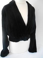 Vintage 80's GB Laura Ashley Black Velvet Bolero Jacket Size 14/16 *see Sizing