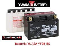 "Batteria YUASA Yt9b-bs 12v 8ah ""mf"" SIGILLATA per Yamaha Majesty 400 dal 2007"