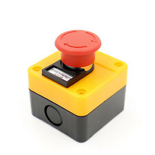 Red Sign Emergency Stop Push Button Weatherproof Pushbutton Switch 660V with Box