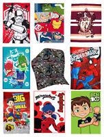 Kids Official Character Novelty Super Soft Fleece Blanket Throw for Boys & Girls