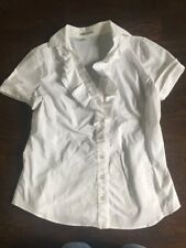 Kenneth Cole Women's White Blouse - Size 6 - NICE NICE NICE!