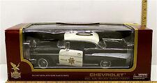 Yat Ming 1957 Chevrolet Bel Air Police Chief 1:18 Die Cast Road Legend 92107 NIB