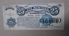 1901 The Montana Mining Loan & Investment Co. 25 Cent