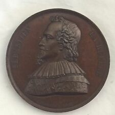 STRIKING! 1846 FRENCH ASSASSINATION BRONZE MEDAL