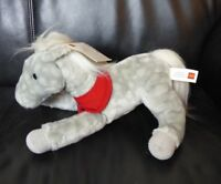 "NWT Wells Fargo Legendary 2013 Shamrock 12"" Gray White Pony Plush Stuffed Animal"