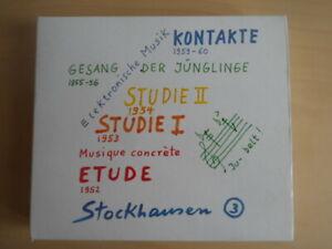 Stockhausen-Elektronische Musik 3-Rare CD-Kontakte, Studie 1, Gesang der..-Etude