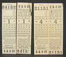Antique Vtg C&O Chesapeake & Ohio Railway Train Railroad Passenger Seat Tickets