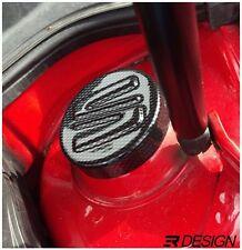 Seat Leon 1M MK1 Strut Cap Covers Cupra ABS - Carbon Effect - SEAT LOGO