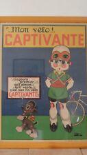 """affiche vélo ancienne """" captivante """""""