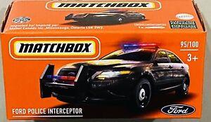 Matchbox Ford Police Interceptor Black 2021 New