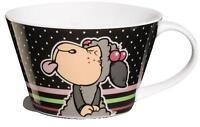 NICI 32897 Kaffeebecher Lucy Mäh XL Tasse Becher Geschenk Henkelbecher Grau