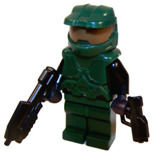 **NEW** LEGO Custom - MASTER CHIEF - Halo Spartan Dark Green John Minifigure