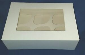 NEW 6 Cupcake Box & Inserts (25) Cake Decorating Cake Baker