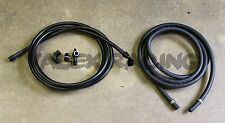 92-95 Civic HB Black Replacement Stainless Steel Fuel Feed Line & Rubber Return