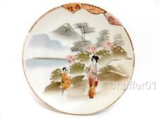 Antique Japanese Porcelain Kobe Satsuma Maruni & Co Hand Painted Pin Dish c1920