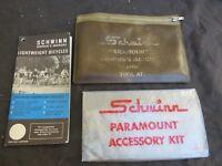 SCHWINN  1972 PARAMOUNT TOOL KIT OWNERS MANUAL BOOK VINTAGE ROAD RACING