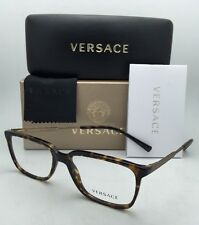 New VERSACE Rx-able Eyeglasses VE 3209 108 55-17 Tortoise & Gold Frames w/ Clear