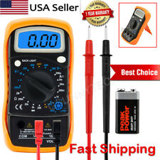 Voltímetro Amperímetro ohmiómetro Digital Multimetro Volt AC DC probador medidor de luz de fondo