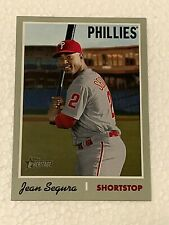 2019 Topps Heritage Jean Segura SP #450 Philadelphia Phillies Basebal Card