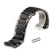 Curved Ceramics Bracelet Watch Band Strap Butterfly Clasp Replacement For AR1451