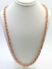 "Men's 10k Rose Gold Turkish Link Chain Necklace 26"" 5mm 42 grams"