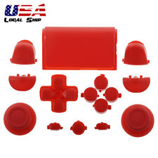 Solid Red Full Set Buttons Thumbsticks Repair for Dualshock 4 PS4 Controller