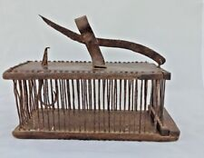 1850's VINTAGE SCARCE UNIQUE HANDMADE(EACH PART) WOODEN-IRON RAT-MOUSE TRAP/CAGE