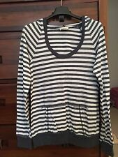 So Low hooded striped shirt - White/Blue (L)