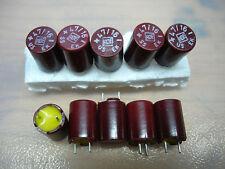 10x NOS ROE EK 47uF/16V ROEDERSTEIN vintage bakelite capacitors for audio