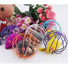 Cat Toy Iron Cage Mouse Feather Plush Mouse Cat Toys Interactive Cat Pet