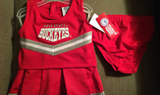 Ohio State Buckeye Little Girls Cheerleading Outfit..size 18 Months