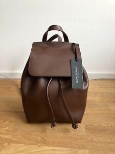 💛 Neu Gianni Notaro Rucksack Leder Braun Backpack Leather Brown Trend 💛