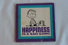 Vintage Happiness is a Sad Song Peanuts Book by Charles M. Schulz. 1967, 1971.
