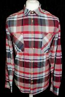 TED BAKER Mens Multi Coloured Check Long Sleeved Shirt Size (5) XL