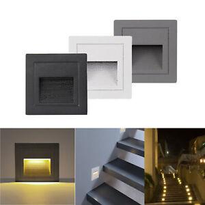 3W LED Wandeinbauleuchte Stufenlicht Treppenbeleuchtung Lampe Außen 230V IP65