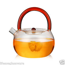 Flameware Glass Teapots Stovetop TEA POT Boiling Water Kettle Flower Tea Maker