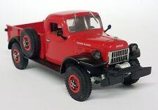 Matchbox 1/43 Scale 1946 Dodge Power Wagon Red Black - Diecast Model Car Truck