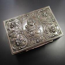 Große 645,9 Gramm schwere handgearbeitete Dose aus 800 Silber Sarotti Schokolade