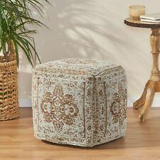 Bosco Hand Loomed Fabric Cube Pouf