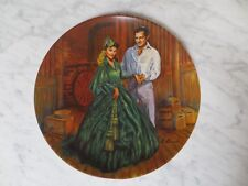 Knowles Scarlett'S Green Dress Gone With The Wind Mib Plate