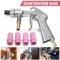 Sandblaster Gun Air Siphon w/4pcs 4mm/5mm/6mm/7mm Ceramic Nozzles Abrasive