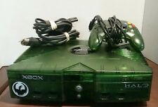 Original Xbox Halo Special Edition Clear Green System Complete Tested Rare