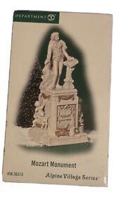 DEPT 56 Alpine Village Mozart monument  Hard To Find